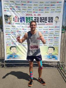 After the Samcheok Half Marathon.
