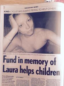 Laura and the charity set up in her name.