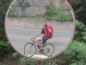 'Selfies' are harder on a  bike but where there's a will there's a way!