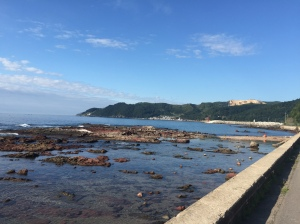 This stretch of coastline is monumentally beautiful.
