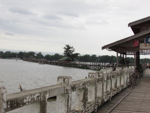 I rode across the longest teak bridge in the world.