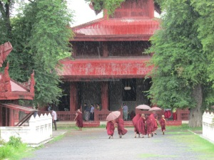 Monks and monasteries are on every corner of this deeply religious country.
