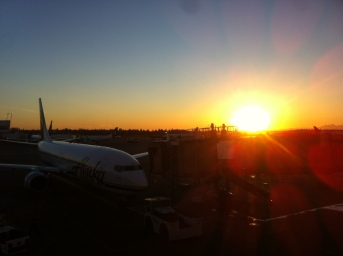Greeted to this sunset when landing in Seattle.