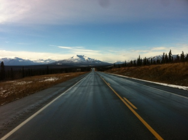 Lonely roads through Alaska but beautiful ones.