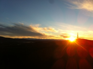 Couldn't get a picture of the northern lights, but did manage this sunset on the border.