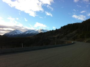Starting the climb into the mountains.