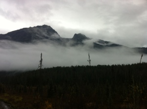 The misty mountains of Smithers.