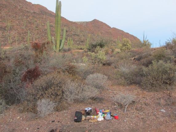 Breakfast in the desert...I eat a family size portion of porridge to get each day going.