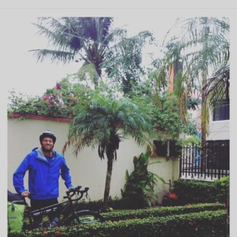 Leavin Octavio's home on a very rainy day.