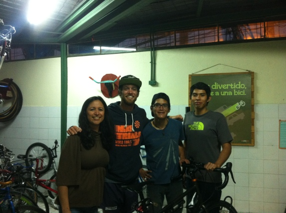 The crew at the bike shop in Guatemala City