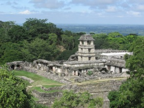 The amazing ruins in the jungle at Palenque
