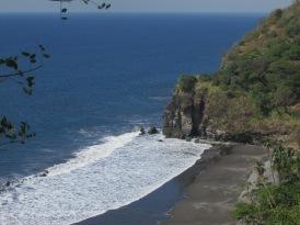 El Salvador's black volcanic coast