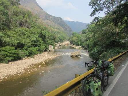 Riding down from Bogota