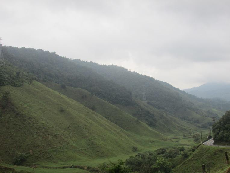 Climbing up through the valley