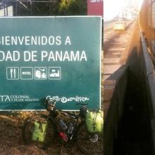 Getting ready to cross Puente Los Americas