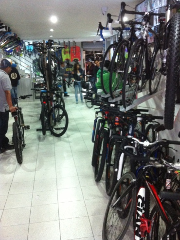 There are well stocked bike shops everywhere
