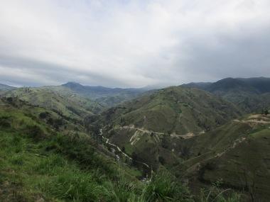 Ecuador's roads constantly drop and climb