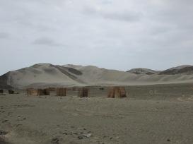 This random town had tiny houses littered amongst the desert