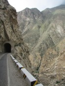Stunning ride along a vast canyon