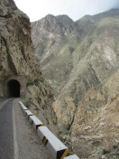 Stunning ride along a vast canyon