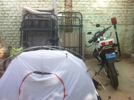 Camping at the police station