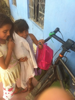 These local children were very excited to see the bike